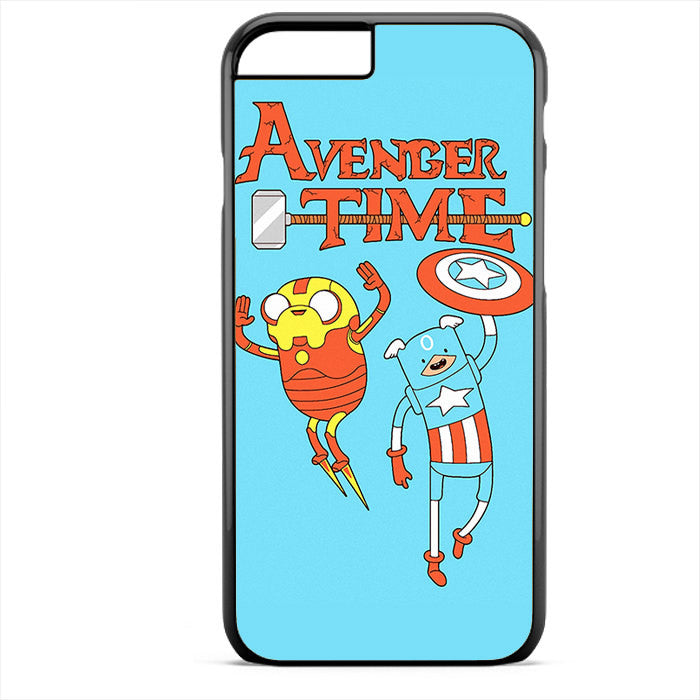 Adventure Time The Avenger Captain America And Ironman Phonecase For Iphone 4/4S Iphone 5/5S Iphone 5C Iphone 6 Iphone 6S Iphone 6 Plus Iphone 6S Plus