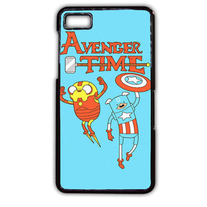 Adventure Time The Avenger Captain America And Ironman TATUM-354 Blackberry Phonecase Cover For Blackberry Q10, Blackberry Z10 - tatumcase