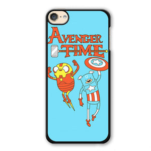 Adventure Time The Avenger Captain America And Ironman Phonecase Cover Case For Apple Ipod 4 Ipod 5 Ipod 6 - tatumcase