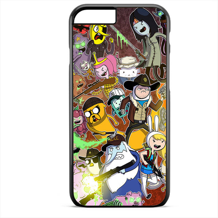 Adventure Time The Walking Dead Phonecase For Iphone 4/4S Iphone 5/5S Iphone 5C Iphone 6 Iphone 6S Iphone 6 Plus Iphone 6S Plus
