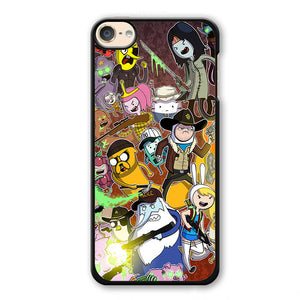 Adventure Time The Walking Dead Phonecase Cover Case For Apple Ipod 4 Ipod 5 Ipod 6 - tatumcase