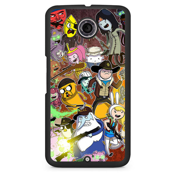 Adventure Time The Walking Dead Phonecase Cover Case For Google Nexus 4 Nexus 5 Nexus 6 - tatumcase