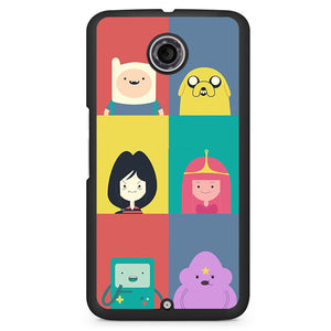 Adventure Time Cute Phonecase Cover Case For Google Nexus 4 Nexus 5 Nexus 6 - tatumcase