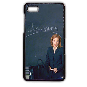 Agent Dana Scully Uncertainty TATUM-390 Blackberry Phonecase Cover For Blackberry Q10, Blackberry Z10 - tatumcase