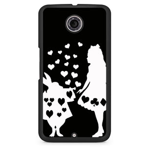 Alice And Mr Rabbit Phonecase Cover Case For Google Nexus 4 Nexus 5 Nexus 6 - tatumcase