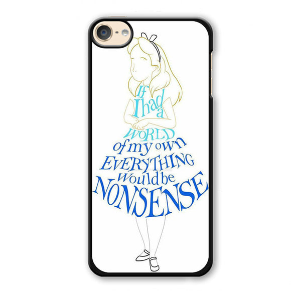 Alice In Typograph Phonecase Cover Case For Apple Ipod 4 Ipod 5 Ipod 6 - tatumcase