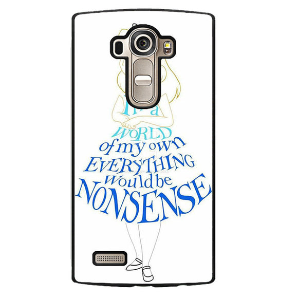 Alice In Typograph Phonecase Cover Case For LG G3 LG G4 - tatumcase