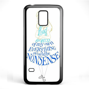 Alice In Typograph Phonecase Cover Case For Samsung Galaxy S3 Mini Galaxy S4 Mini Galaxy S5 Mini - tatumcase