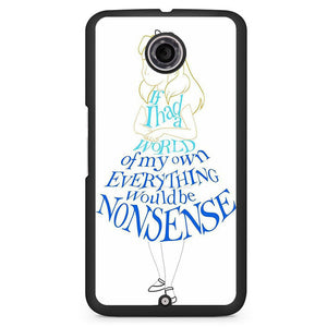 Alice In Typograph Phonecase Cover Case For Google Nexus 4 Nexus 5 Nexus 6 - tatumcase