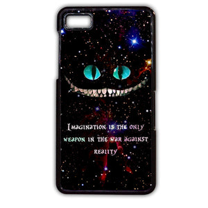 Alice In Wonderland Cheshire Cat Quote Phonecase Cover Case For Blackberry Q10 Blackberry Z10 - tatumcase
