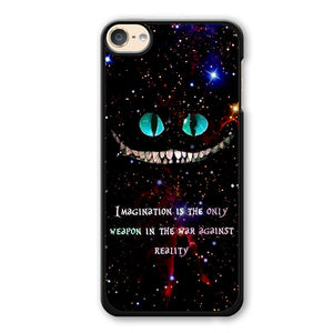Alice In Wonderland Cheshire Cat Quote Phonecase Cover Case For Apple Ipod 4 Ipod 5 Ipod 6 - tatumcase