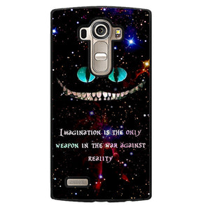 Alice In Wonderland Cheshire Cat Quote Phonecase Cover Case For LG G3 LG G4 - tatumcase