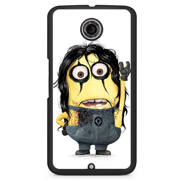 Alice Cooper Minion Phonecase Cover Case For Google Nexus 4 Nexus 5 Nexus 6