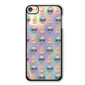 Alien Emoji Peace Background Phonecase Cover Case For Apple Ipod 4 Ipod 5 Ipod 6