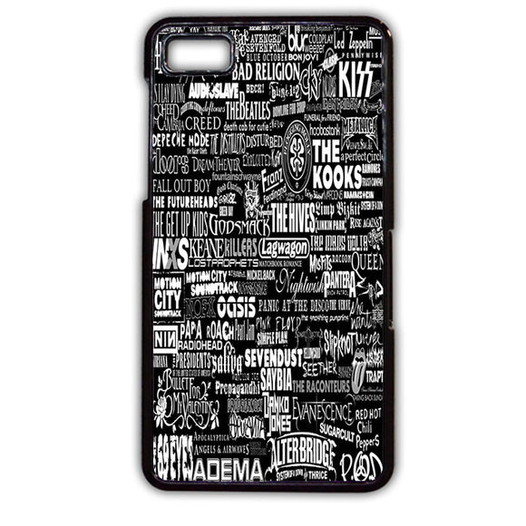 All Band Rock Collage TATUM-595 Blackberry Phonecase Cover For Blackberry Q10, Blackberry Z10
