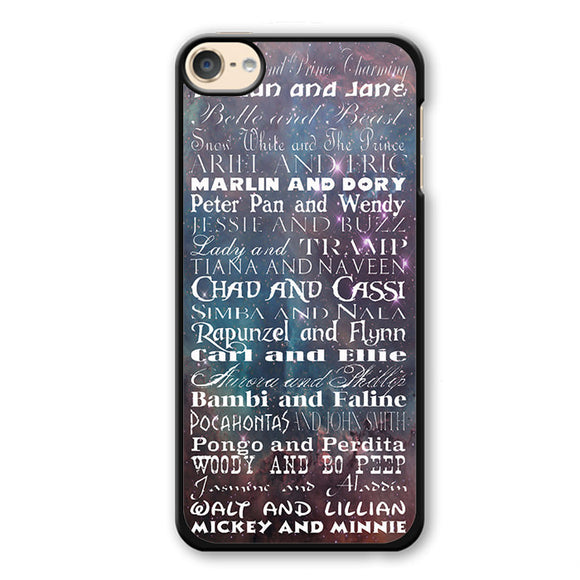 All Disney Couple Phonecase Cover Case For Apple Ipod 4 Ipod 5 Ipod 6