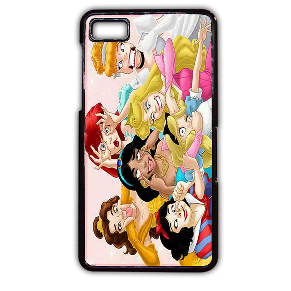 All Disney Princess Cinderella Ariel Alice Belle Jasmine Snow White Funny Phonecase Cover Case For Blackberry Q10 Blackberry Z10
