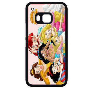 All Disney Princess Cinderella Ariel Alice Belle Jasmine Snow White FunnyPhonecase Cover Case For HTC One M7 HTC One M8 HTC One M9 HTC ONe X