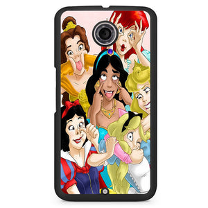 All Disney Princess Silly Faces Phonecase Cover Case For Google Nexus 4 Nexus 5 Nexus 6