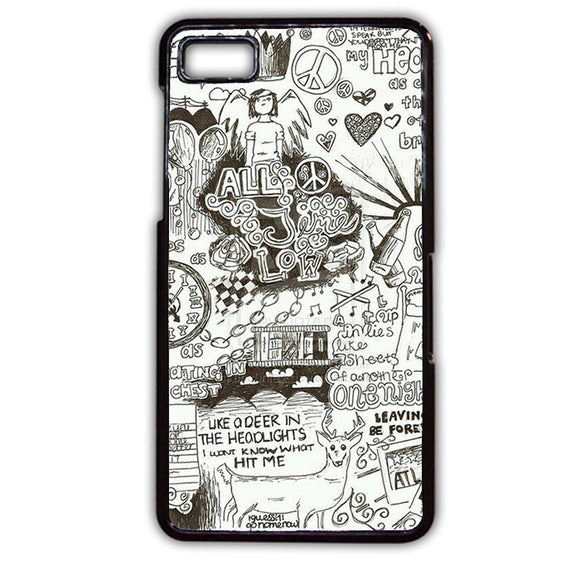 All Time Low Lyrics TATUM-630 Blackberry Phonecase Cover For Blackberry Q10, Blackberry Z10