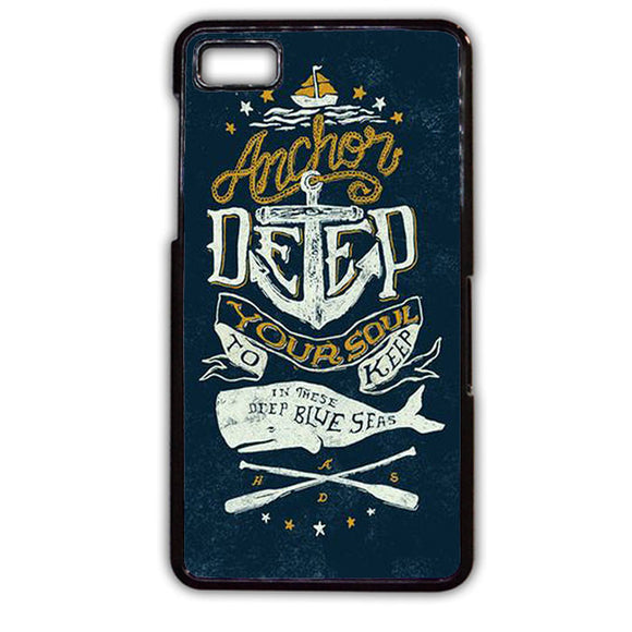 Anchor Deep TATUM-746 Blackberry Phonecase Cover For Blackberry Q10, Blackberry Z10