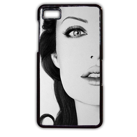 Angelina Jolie Paint Art TATUM-773 Blackberry Phonecase Cover For Blackberry Q10, Blackberry Z10