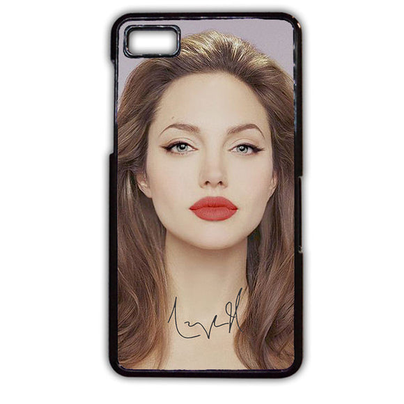 Angelina Jolie Red Lips TATUM-775 Blackberry Phonecase Cover For Blackberry Q10, Blackberry Z10