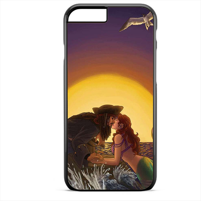 Ariel And Jack Sparrow Phonecase For Iphone 4/4S Iphone 5/5S Iphone 5C Iphone 6 Iphone 6S Iphone 6 Plus Iphone 6S Plus