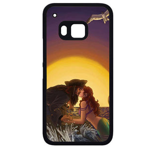 Ariel And Jack SparrowPhonecase Cover Case For HTC One M7 HTC One M8 HTC One M9 HTC ONe X