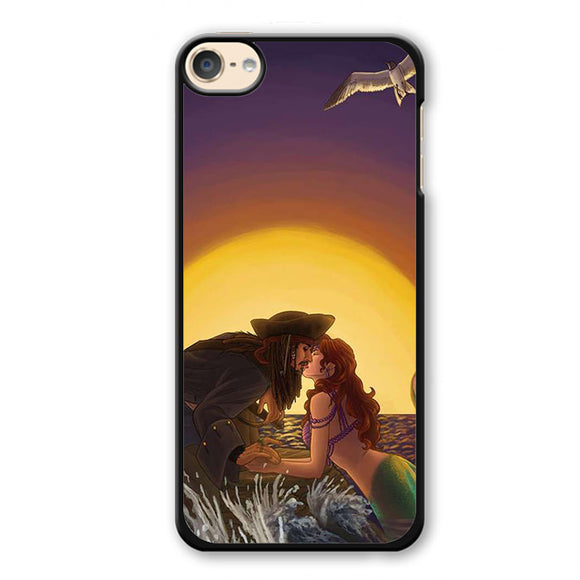 Ariel And Jack Sparrow Phonecase Cover Case For Apple Ipod 4 Ipod 5 Ipod 6