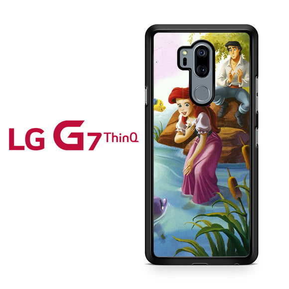 Ariel Little Mermaid Playing with Dolphine - LG G7 ThinQ Case - Tatumcase