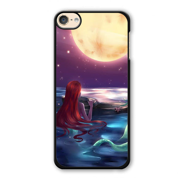 Ariel Loves Watching Moon Phonecase Cover Case For Apple Ipod 4 Ipod 5 Ipod 6