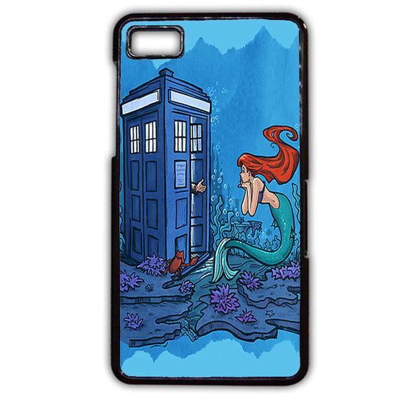 Ariel Mermaid Tardis Phonecase Cover Case For Blackberry Q10 Blackberry Z10