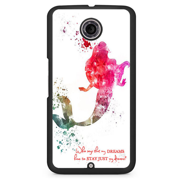 Ariel Quote Art Phonecase Cover Case For Google Nexus 4 Nexus 5 Nexus 6