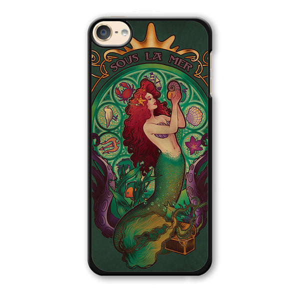 Ariel Sous La Mer Phonecase Cover Case For Apple Ipod 4 Ipod 5 Ipod 6