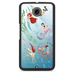 Ariel And Her Friends Soulmate Phonecase Cover Case For Google Nexus 4 Nexus 5 Nexus 6