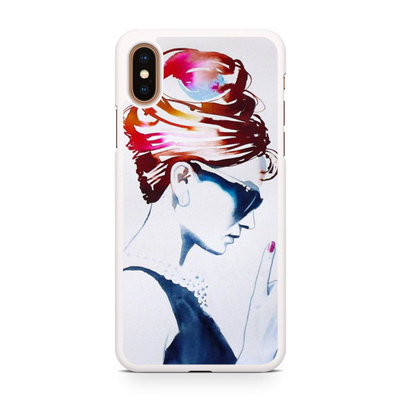 Audrey Hepburn art, Custom Phone Case, iPhone Case, iPhone XS Case
