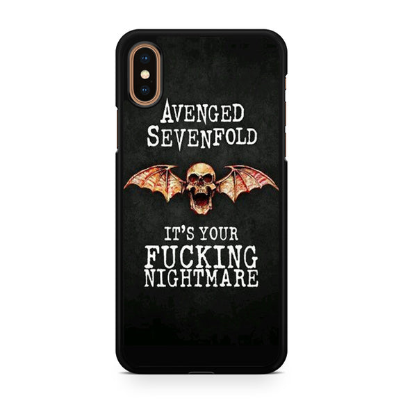 Avenged Sevenfold Quotes 2, Custom Phone Case, iPhone Case, iPhone XS Case