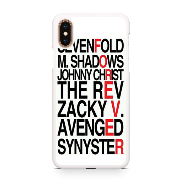 Avenged Sevenfold Quotes forever, Custom Phone Case, iPhone Case, iPhone XS Case