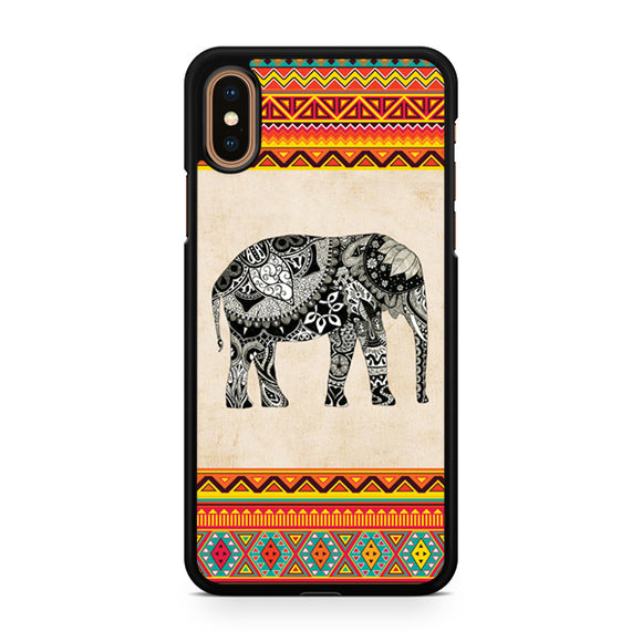 Awesome Elephant Aztec, Custom Phone Case, iPhone Case, iPhone XS Case