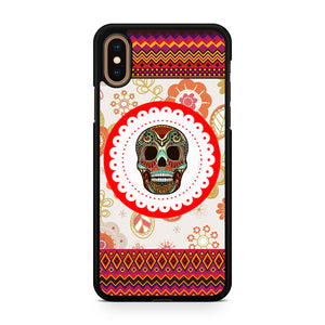 Awesome Floral Aztec Skull, Custom Phone Case, iPhone Case, iPhone XS Case