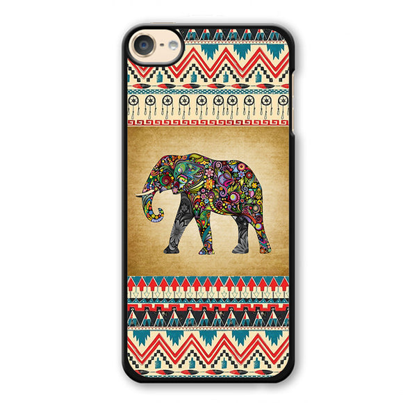 Aztec Elephant Vintage Background Phonecase Cover Case For Apple Ipod 4 Ipod 5 Ipod 6