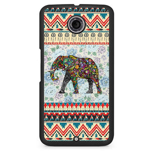 Aztec Elephant Vintage Floral Phonecase Cover Case For Google Nexus 4 Nexus 5 Nexus 6