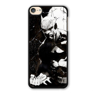 Batman Art Black And White Phonecase Cover Case For Apple Ipod 4 Ipod 5 Ipod 6