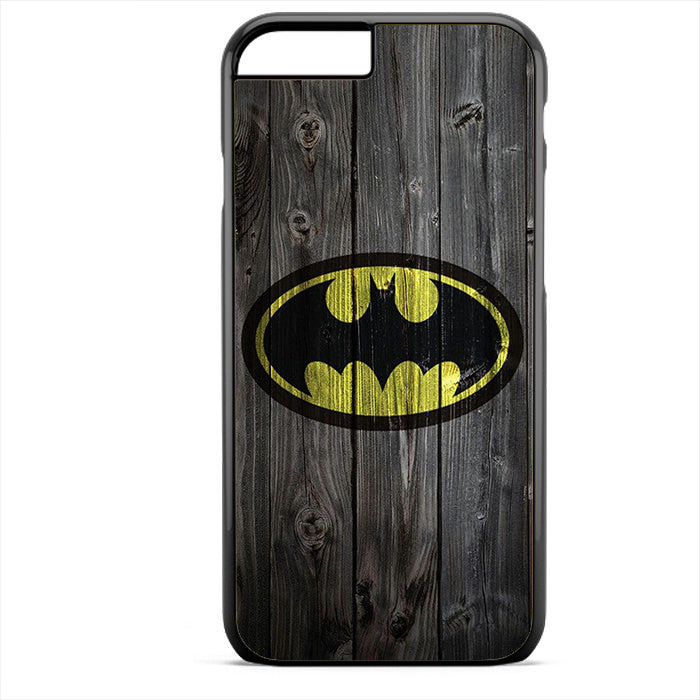 Batman Logo On Wood Phonecase For Iphone 4/4S Iphone 5/5S Iphone 5C Iphone 6 Iphone 6S Iphone 6 Plus Iphone 6S Plus
