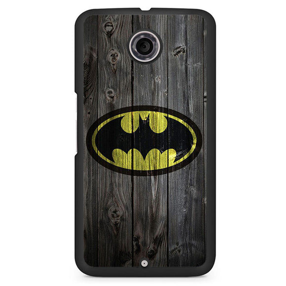 Batman Logo On Wood Phonecase Cover Case For Google Nexus 4 Nexus 5 Nexus 6