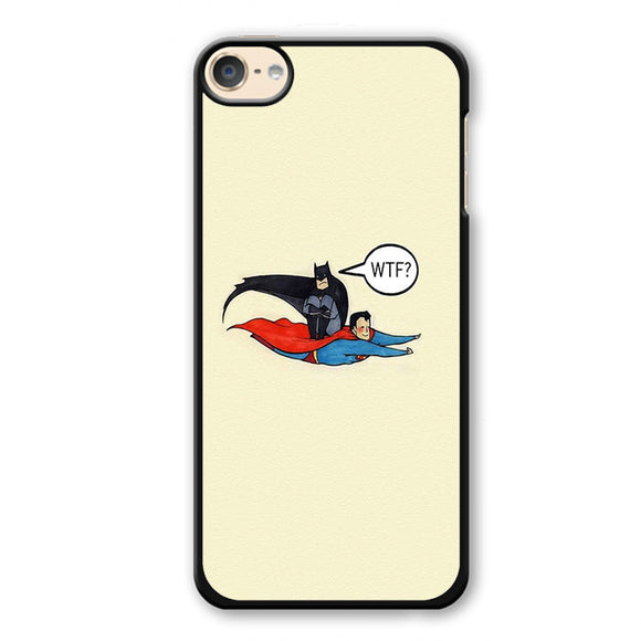 Batman Riding Superman Phonecase Cover Case For Apple Ipod 4 Ipod 5 Ipod 6