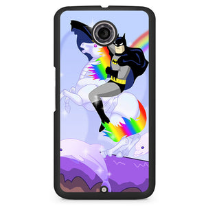 Batman Riding Unicorn Phonecase Cover Case For Google Nexus 4 Nexus 5 Nexus 6
