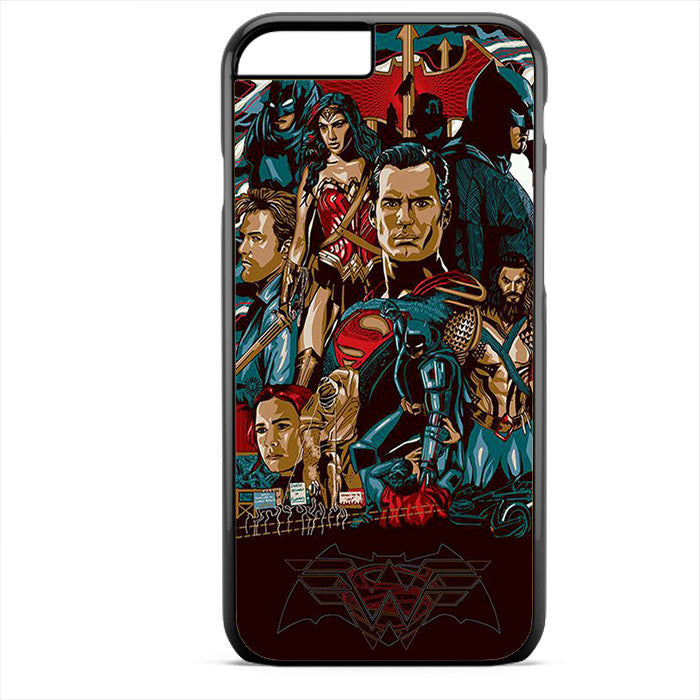 Batman V Superman Comic Art Phonecase For Iphone 4/4S Iphone 5/5S Iphone 5C Iphone 6 Iphone 6S Iphone 6 Plus Iphone 6S Plus