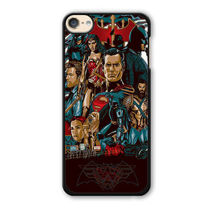 Batman V Superman Comic Art Phonecase Cover Case For Apple Ipod 4 Ipod 5 Ipod 6